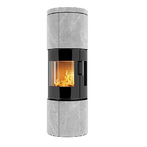RAIS JUNO Soapstone 160 Classic Steel Framed Door Wood Burning Stove