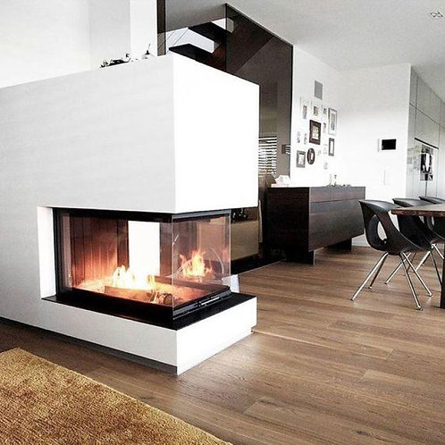 RAIS INSET VISIO 3:1 Room Divider Wood Burning Stove