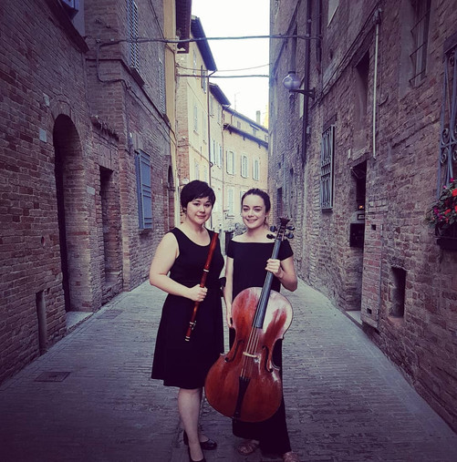 Meredith & Lucy in Urbino