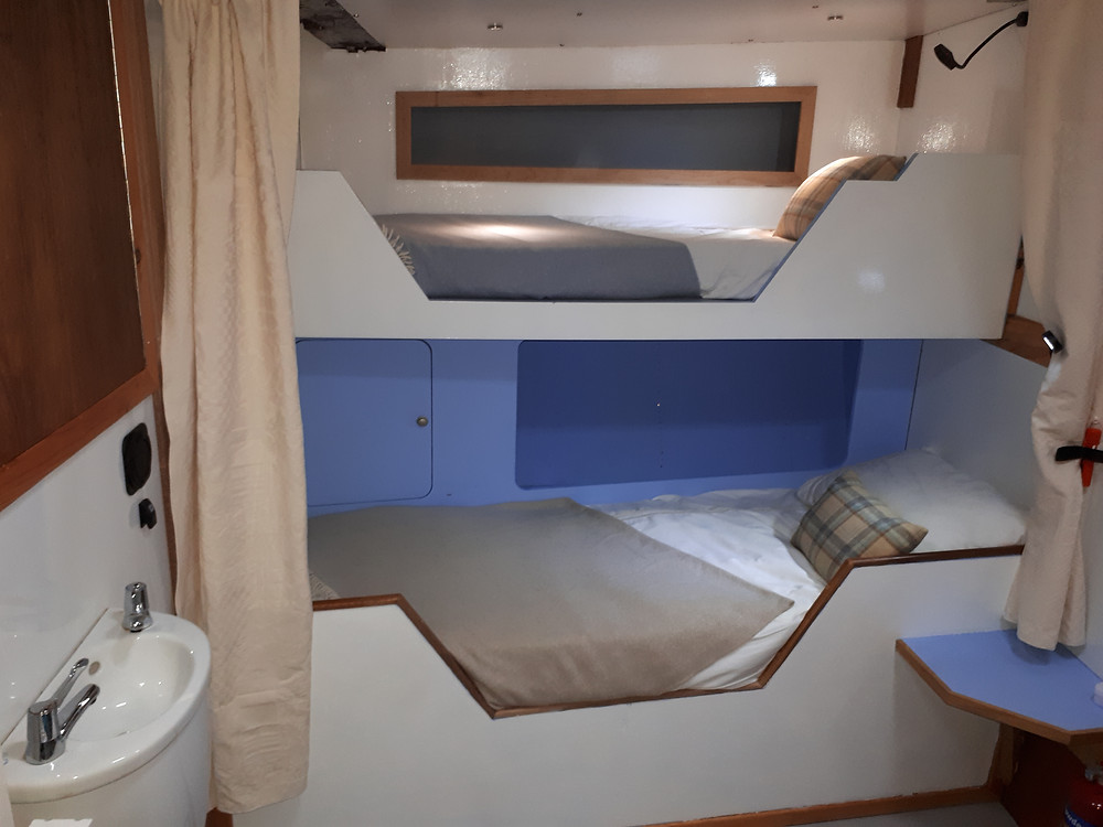 Bunk beds in a cabin on the Monadhliath