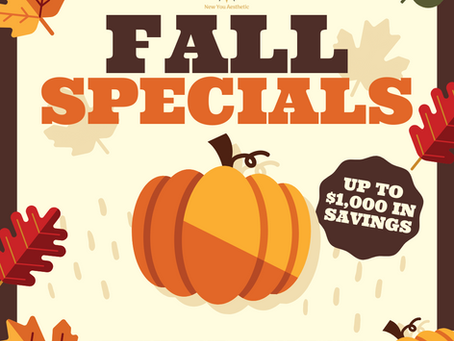 Falling in to our NEW SPECIALS!