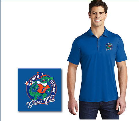 Men's Royal Blue Performance Polo with Logo