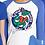 Thumbnail: Ladies Logo 3/4 Sleeve Baseball T-Shirt - Blue/White