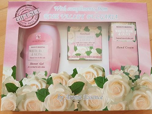 """Geschenkset """"Weiße Rose"""""""