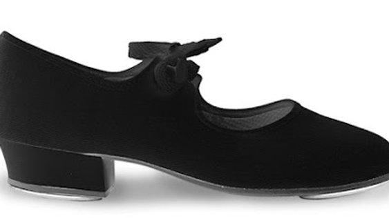 Low heel canvas tap shoe (Low and Cuban Heel)