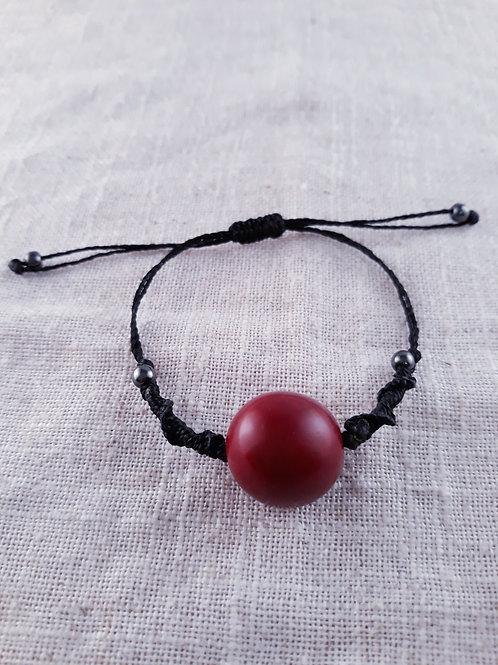 Bracelet pambil macramé Bordeau