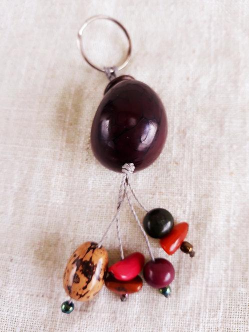 Porte-clefs en tagua Myrtille