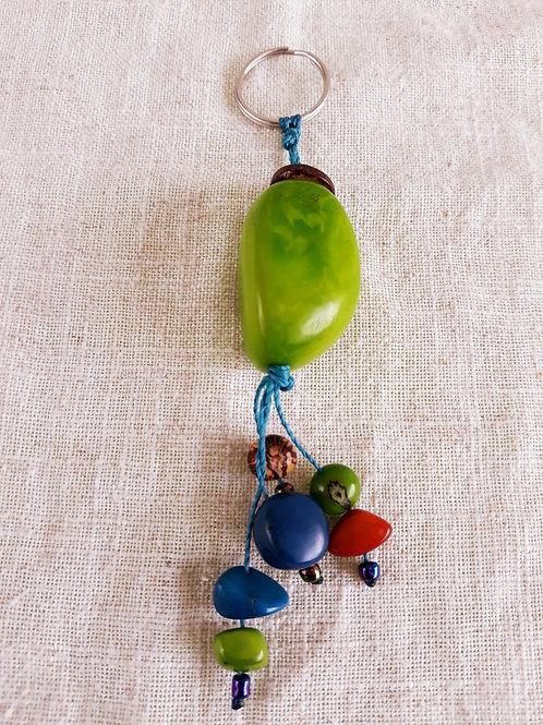 Porte-clefs en tagua Vert Pomme