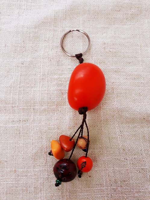 Porte-clefs en tagua Orange
