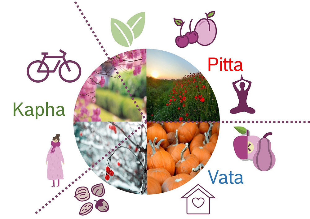 Ayurveda und die Jahreszeiten Vata, Pitta und Kapha
