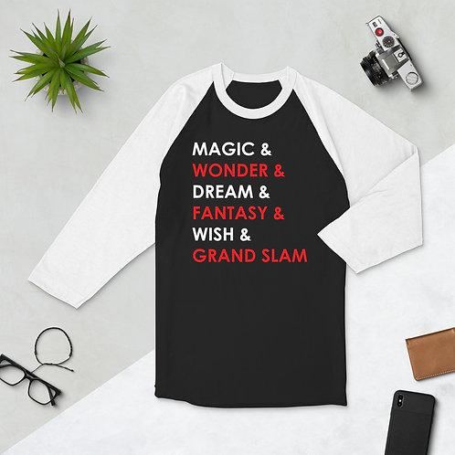 Grand Slam 3/4 sleeve raglan shirt