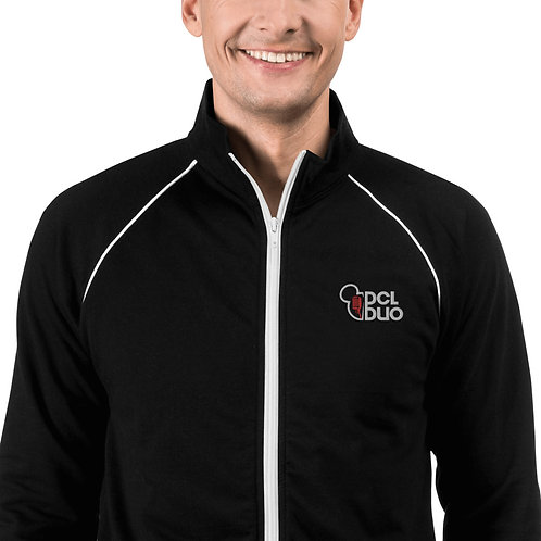 DCLDuo Embroidered Piped Fleece Jacket