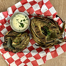 Steamed and Grilled Artichoke