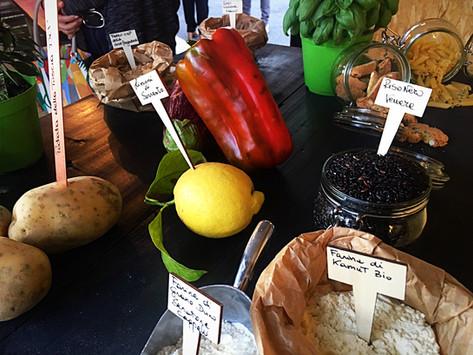 Farina di kamut Bio, Riso nero venere, limone di Sorrento, Farina integrale Senatore Cappelli