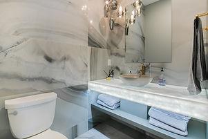01-Powder room vanity, Naxos marble back