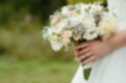 beautiful tender wedding bouquet of crea