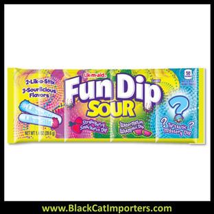 Wonka Fun Dip Large Sour 24ct