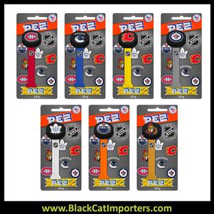 Pez Blister Packs - NHL PUCKS 12ct Display