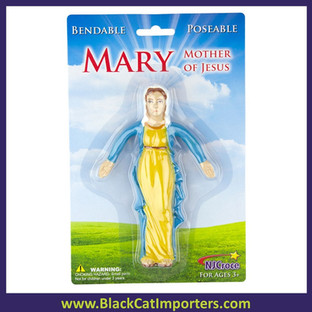 Mary Mother of Jesus Bendable 4 Pcs/Pack