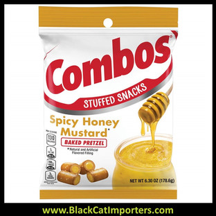 COMBOS Spicy Honey Mustard Pretzel Baked Snacks, 6.3-Ounce Bag