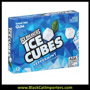 Ice Breakers Ice Cubes Peppermint Gum Blister Pack 6ct