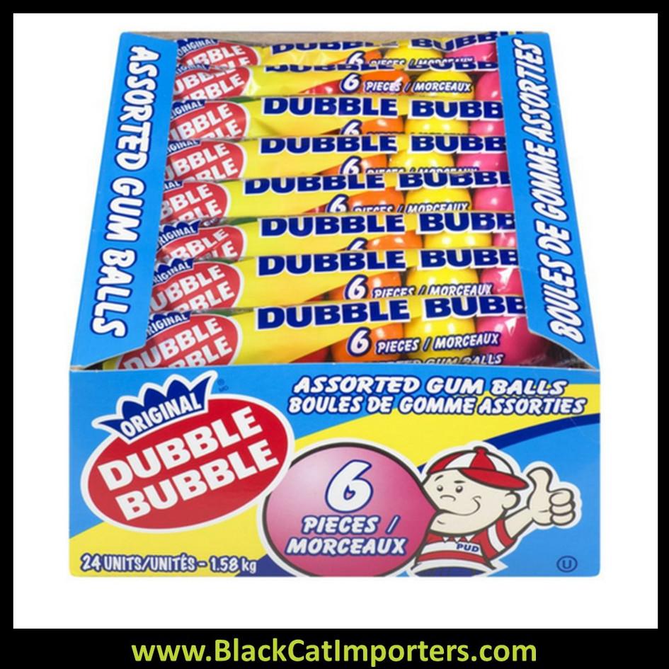 Dubble Bubble 6 piece Assorted Gum Balls Large