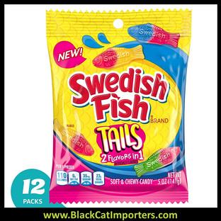 Swedish Fish Big Tails Assorted Peg Bag 5oz 1/12ct