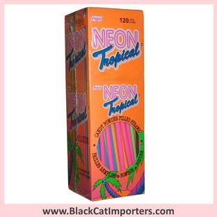 Neon Lazers Powder Candy Straws   Tropical