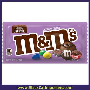 M&M's Single Bag Fudge Brownie 1.35oz  24ct