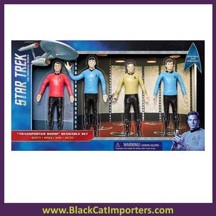 Star Trek: TOS Transporter Room 6-Inch Bendable Figure Set 2Pcs / Pack