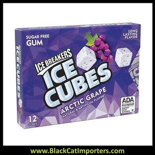 Ice Breakers Ice Cubes Arctic Grape Gum Blister Pack 6ct