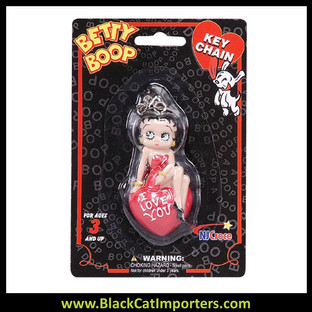 Betty Boop 3-D Keychains - I Love You 4 Pcs/Pack
