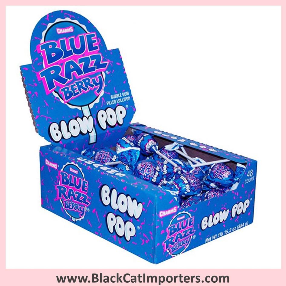Charms® Blow Pop Lollipops Blue Raspberry - 48-ct (Peanut Free)
