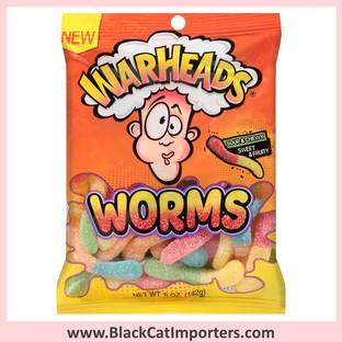 WarHeads Gummy Worms / Peg Bag