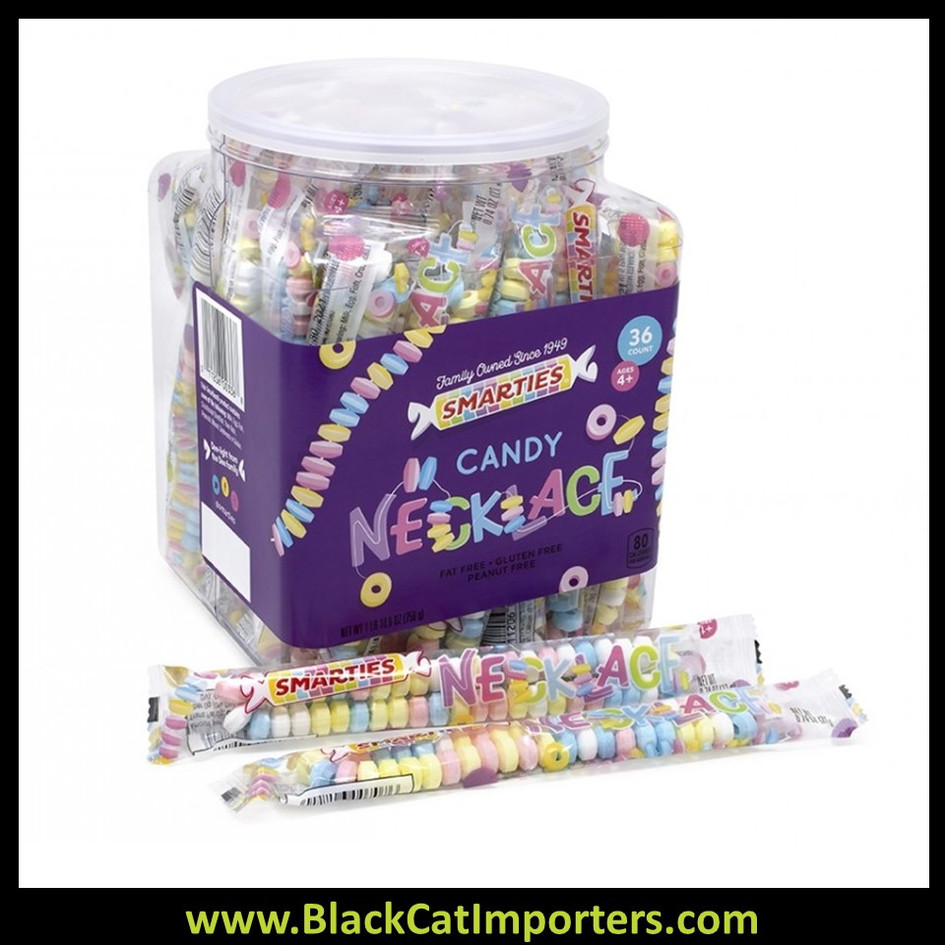Smarties Candy Necklaces Tub