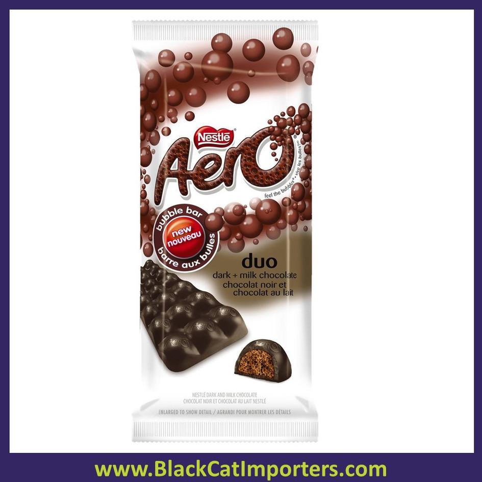 Nestle Aero Duo Bubble Dark and Milk Chocolate Bar 24ct/Box