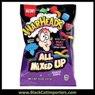 Warheads Chewy Mix Peg Bag 5oz 12ct