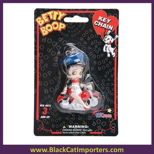Betty Boop 3-D Keychains - Biker  4 Pcs/Pack