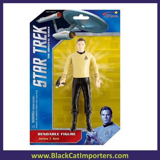 """Star Trek - Captain Kirk 6"""" Bendable 4Pcs / Pack"""