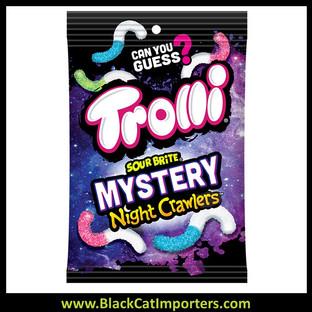 Trolli Sour Brite Mystery Night Crawlers 5.0oz Peg Bag 12ct