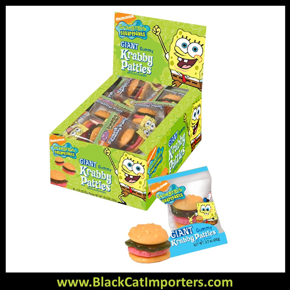 SpongeBob Giant Gummy Krabby Patties 36ct