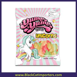 Yumy Yumy Gummy Unicorn Candy Peg Bag 12/4 Oz