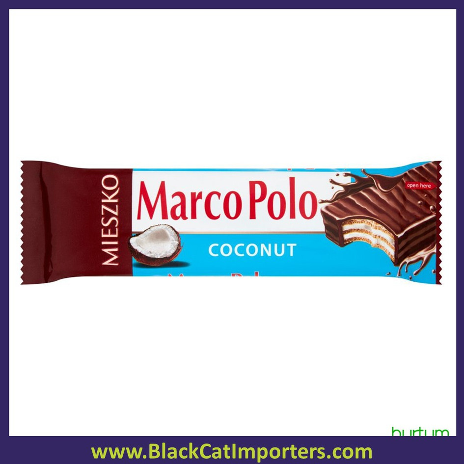 Marco Polo Wafer Chocolate Coconut Bar 20ct