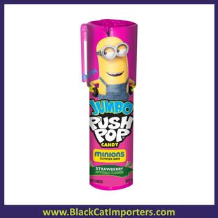 Bazooka Minions 2 Push Pop Jumbo: 18-Piece Box