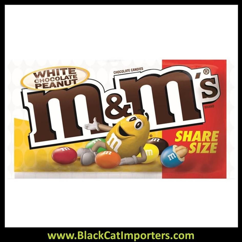 M&M's White Chocolate Peanut Share Size 2.80 oz 24ct