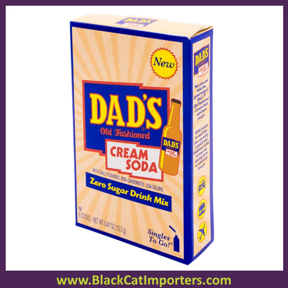 Dad's Singles to Go Drink Mix, Cream Soda, 12x6 Packets