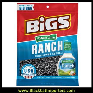 Bigs Sunflower Seeds Ranch Peg Bags 5.35oz 12ct