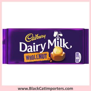 Cadbury Chocolate Bars | Dairy Milk Whole Nut | Large 14x200gg