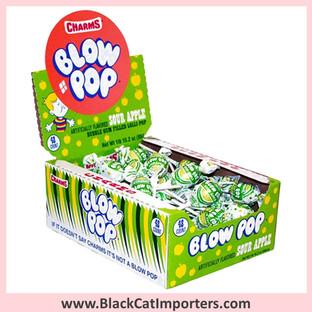 Charms® Blow Pop Lollipops Sour Apple - 48-ct (Peanut Free)