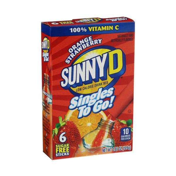 SunnyD Orange Strawberry Singles to Go Drink Mix, 12x6 Packets